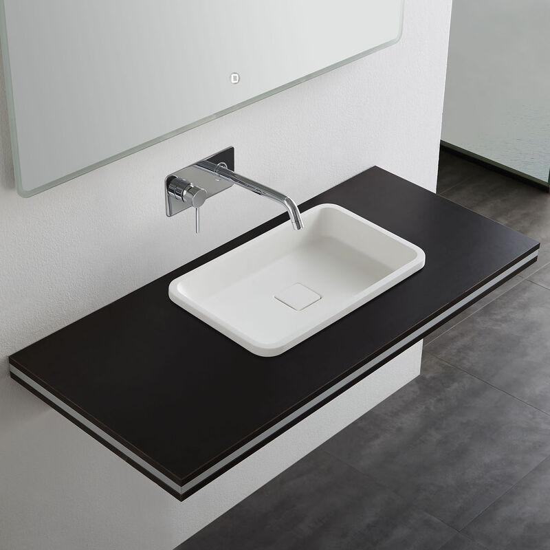 Mineralguss Einbaubecken Einbau Waschbecken PB2129   53x32x10,5cm   Pure Acrylic