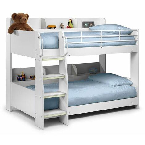 Minerva 3ft Single 90 x 190 STONE WHITE Bunk Bed Frame
