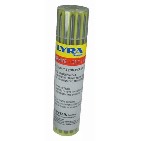 Mines de rechanges Lyra Dry HEKA - graphite - 12 pièces - en boîtier - 014750
