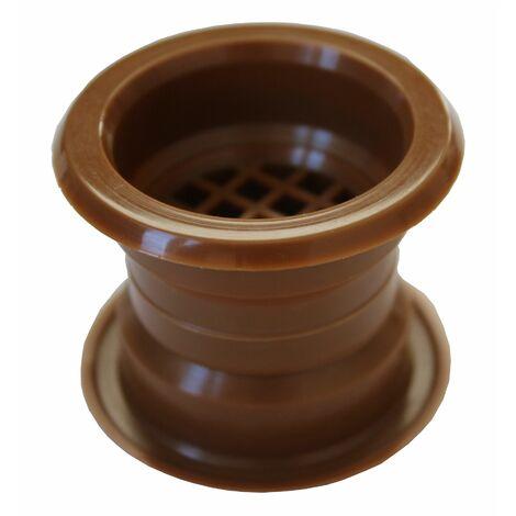 Mini air cercle collier évent grille de ventilation de porte couvercle acacia 4pcs couleur