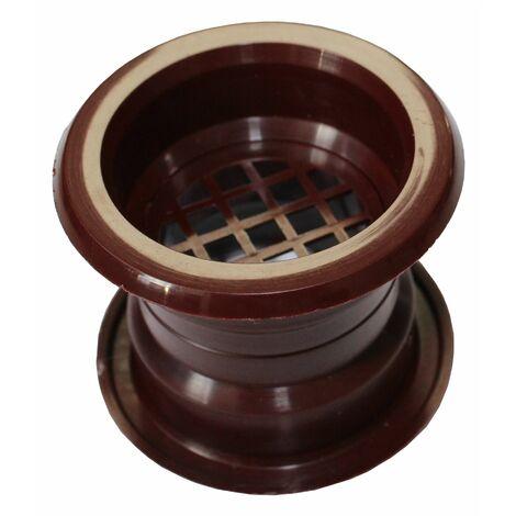 Mini air cercle collier évent grille de ventilation de porte couvercle acajou 4pcs couleur