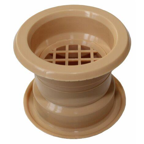 Mini air cercle collier évent grille de ventilation de porte couvercle hêtre 4pcs couleur