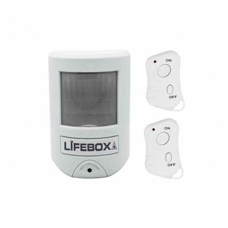 Mini Alarme À Détecteur De Mouvement Et 2 Télécommandes