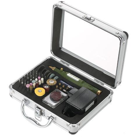 Mini amoladora electrica multifuncional, herramienta rotativa de velocidad variable y kit de accesorios