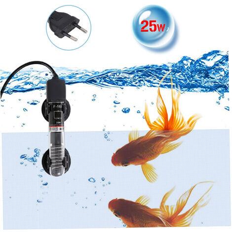 """main image of """"Mini-Aquarium Chauffe-Eau Submersible Automatique Thermostat Chauffe-Aquarium Chauffe-Eau A Quartz Tube Avec Ventouse, 25W"""""""