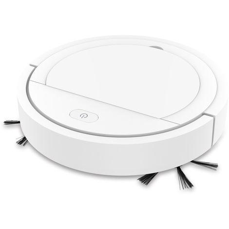 Mini aspirador inteligente escoba recargable del USB del hogar seco humedo Sweeper robot, blanca