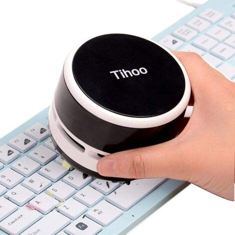 Mini Aspirateur de Table, Handheld Vacuum Cleaner Nettoyeur de Bureau, Portable Aspirateur Ramasse Miettes Miniature sans Fil, Dust Sweeper Balayeuse Table