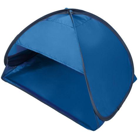 Mini Auvent Pare-Soleil De Plage, Avec Etui De Transport, Bleu