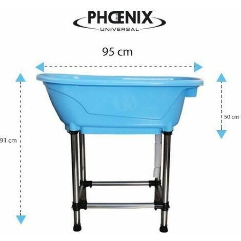 Mini baignoire plastique bleue 95 x 50 x 91 cm