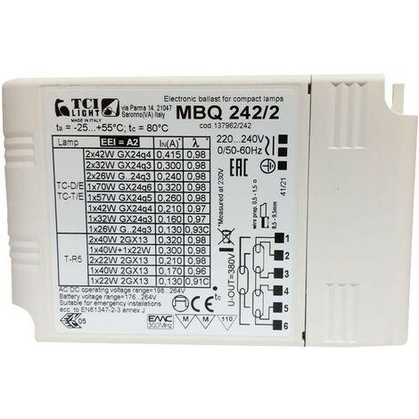Mini balasto electrónico TCI multilamp MBQ 242/2 137962/242
