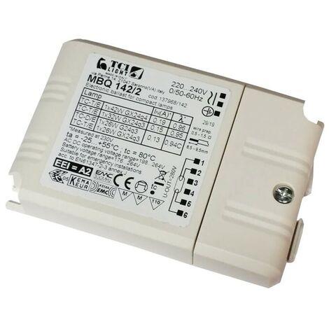 Mini balastos electrónicos TCI MBQ 142/2 1X26-32-42 137968/142