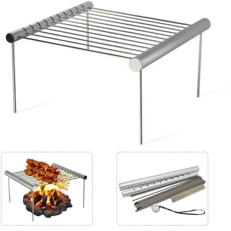 Mini barbecue portable gril barbecue grill maille clip pliable en acier inoxydable