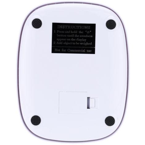 Mini bascula electronica, bascula de cocina, blanca