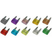 Mini Blade Fuse 12V 15 Amp 5 Pack