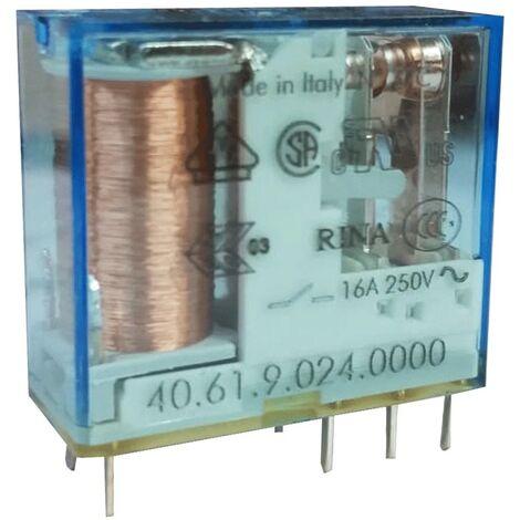 Mini Buscador de Relé 1 de exchange 16A bobina 24 VAC continua 406190240000