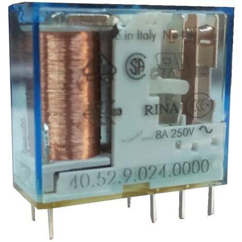 Mini Buscador de Relé 2 cambio más contactos 5A, bobina 24VDC continia 405290240000
