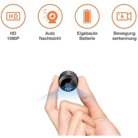 Mini cámara de vigilancia LITZEE con detección de movimiento y memoria externa Micro Nanny Cam portátil
