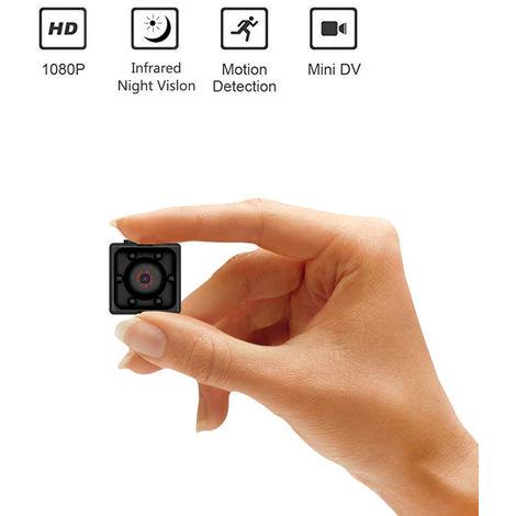 Mini caméra de sécurité sans fil, petite caméra de baby-sitter HD portable Full HD 1080P avec vision nocturne, enregistrement vidéo et détection de mouvement
