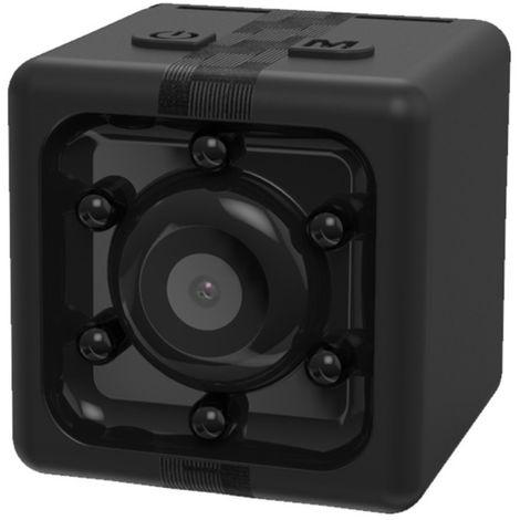 Mini caméra de surveillance noir 1080P enregistreur HD Mini Cube Smart Camera, avec vision nocturne infrarouge et détection de m