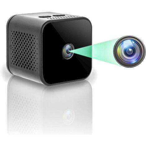 Mini Caméra Espion Cachée, Caméra HD sans Fil 1080P WiFi Portable Petite Caméra de Sécurité avec Détection de Mouvement et Vision Nocturne, Grand Angle 150 ° pour iOS / Android (2.4G Uniquement)