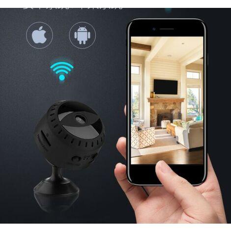 Mini Caméra Espion Cachée WiFi Petite Vidéo HD 1080P Vision Nocturne Détection de Mouvement Sécurité Nanny Cam de Surveillance Caméras Secrètes la Maison Intérieure Extérieure