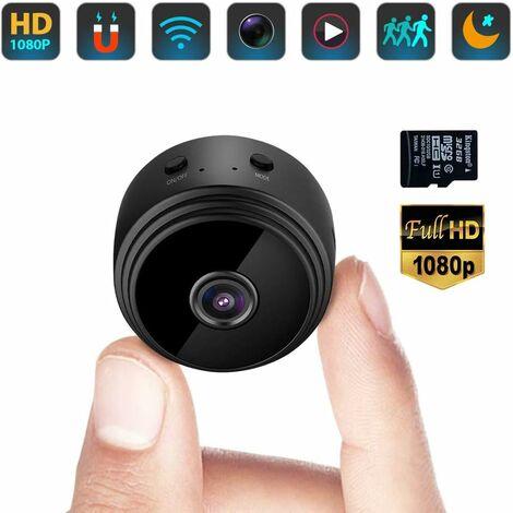 """main image of """"Mini Caméra Espion Cachée WiFi Petite Vidéo HD 1080P Vision Nocturne Détection de Mouvement Sécurité Nanny Cam de Surveillance Caméras Secrètes la Maison Intérieure Extérieure avec Une Carte SD 32G"""""""