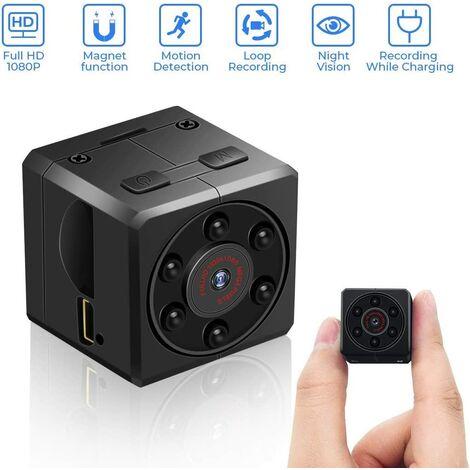 Mini Caméra Espion , HD 1080P Caméra Petite de Surveillance avec Détection de Mouvement et Vision Nocturne Infrarouge, Micro Caméra Cachéepour l'intérieur et l'extérieur