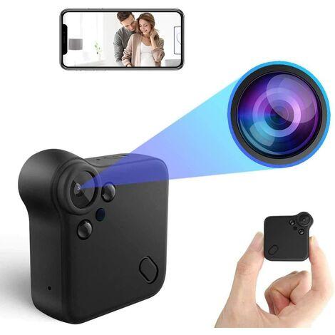 Mini Caméra Espion WiFi Nanny Caméra Cachée Full HD 1080P Caméra Surveillance Voiture sans Fil avec Vision Nocturne et Détection de Mouvement, Spy Cam Micro Camera pour la Maison et Le Bureau