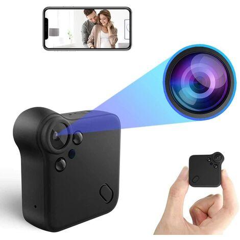 Mini Caméra Espion WiFi Nanny Caméra Cachée Full HD 1080P Caméra Surveillance Voiture sans Fil avec Vision Nocturne et Détection de Mouvement Spy Cam Micro Camera pour la Maison et Le Bureau
