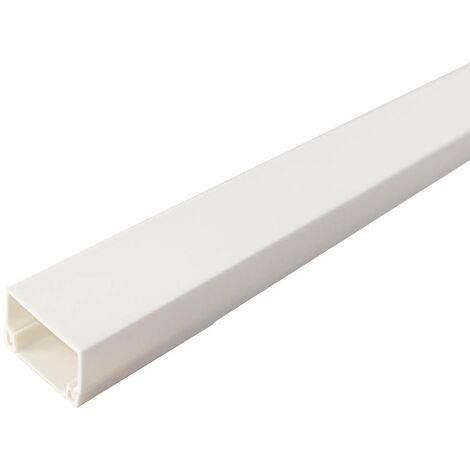 Mini-canaleta eléctrica blanca adhesiva 2M 16x16mm