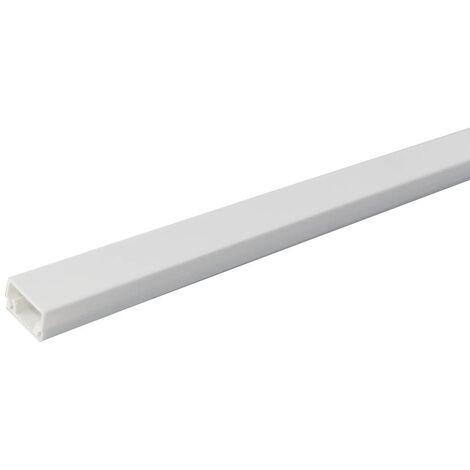 Mini-canaleta eléctrica blanca adhesiva 2M 8x12mm
