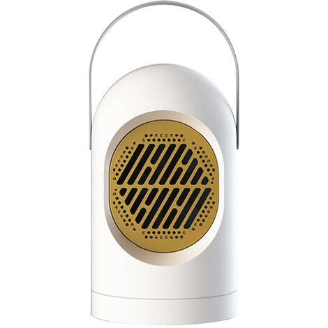 Mini-Chauffage Electrique Portable De Chauffage Domestique Ventilateur 2S Chauffage Rapide Chaud Ventilateur 220 V, Blanc