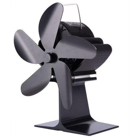 Mini chimenea de ahorro de energía con ventilador de estufa de 5 hojas 210CFM