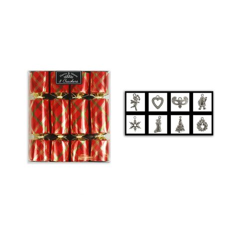 Mini Christmas Crackers Box of 8 Luxury Crackers Festive Fun Xmas Crackers Party