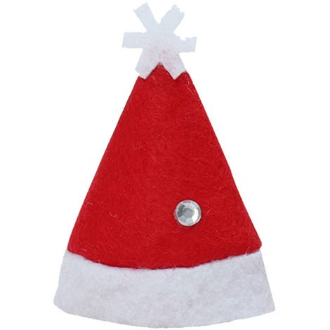 Mini Christmas Hat Xmas Santa Hat Candy Cover Red Santa Hat DIY Lollipop Candy Cover Hat
