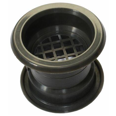 Mini Circle Collar Air Vent Grille Door Ventilation Cover Graphite Color 4pcs