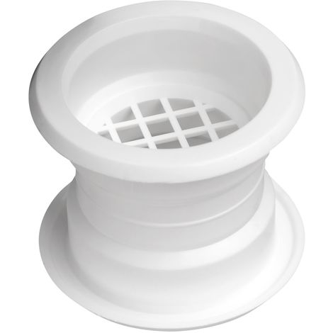 Mini Circle Collar Air Vent Grille Door Ventilation Cover White Color 4pcs