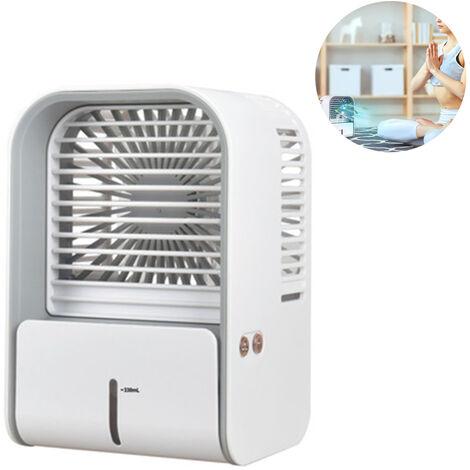 """main image of """"Mini climatiseur mobile refroidisseur d'air / humidificateur / ventilateur USB avec réservoir d'eau et vitesses réglables Refroidisseur d'air, climatiseur pour la maison et le bureau, blanc"""""""