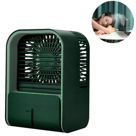 """main image of """"Mini climatiseur mobile refroidisseur d'air / humidificateur / ventilateur USB avec réservoir d'eau et vitesses réglables Refroidisseur d'air, climatiseur pour la maison et le bureau, vert"""""""