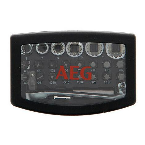 Mini coffret clé à cliquet réversible + accessoires - 24 pièces - AEG