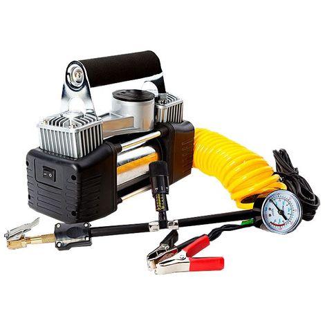 Mini compresor de aire portátil 12v 150psi compresor de bicicleta de coche incluyendo el kit de pinchazos