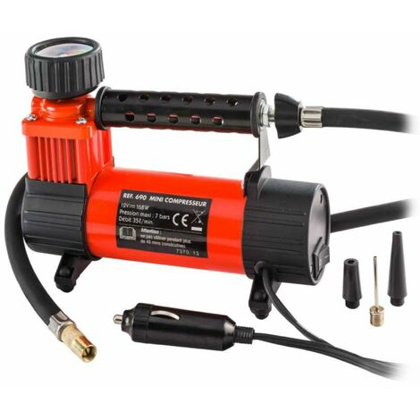 Mini compresseur 12v avec manomètre 168w