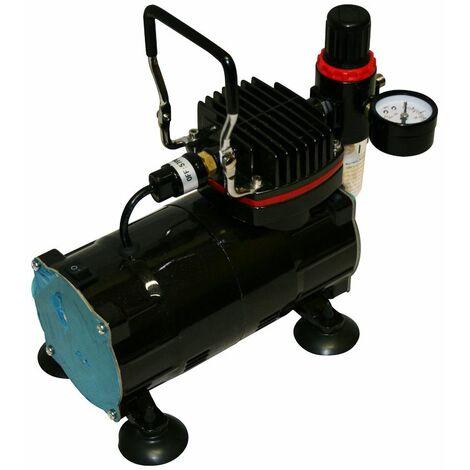 Mini compresseur Airbrush modèle AS18-2 - Version Glossy Black EN OPTION