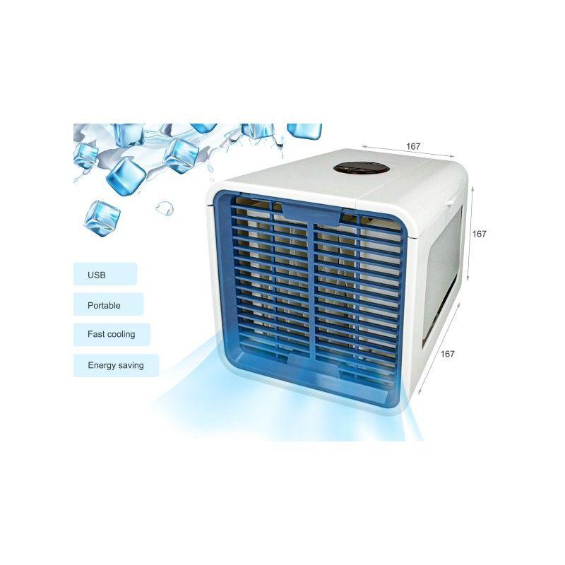 MINI CONDIZIONATORE VENTILATORE CLIMATIZZATORE USB PORTATILE CASA UFFICIO PC