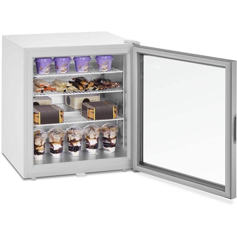 Mini Congélateur Coffre Bahut Freezer Professionnel 88 L A+ Led Porte En Verre - ROYAL CATERING