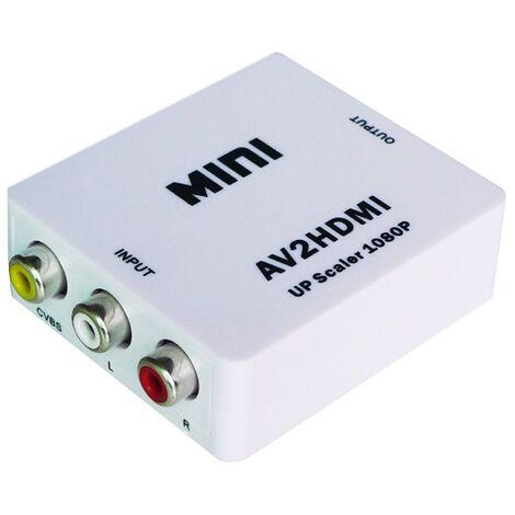 Mini convertidor de AV a HDMI de vídeo con escalador a 1080P Yatek YK-102