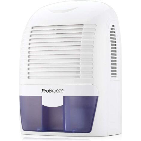 Mini Déshumidificateur d'Air Compact 1500 ml pour l'Humidité et les Moisissures à la Maison, pour Cuisine, Chambre, Garage Pro Breeze