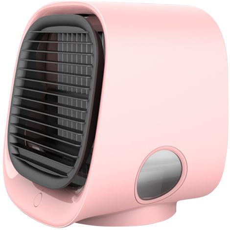 Mini Desktop Climatiseur Anionique Climatiseur Ventilateur De Purification D'Air Humidification Mini Ventilateur De Refroidissement Usb Multifonction Cooler Rose M201, Rose