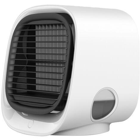 Mini Desktop Climatiseur Anionique Climatiseur Ventilateur De Purification D'Air Humidification Mini Ventilateur De Refroidissement Usb Multifonctions Cooler Blanc M201, Blanc
