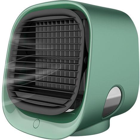 Mini Desktop Climatiseur Anionique Climatiseur Ventilateur De Purification D'Air Humidification Mini Ventilateur De Refroidissement Usb Multifonctions Cooler Vert M201, Vert
